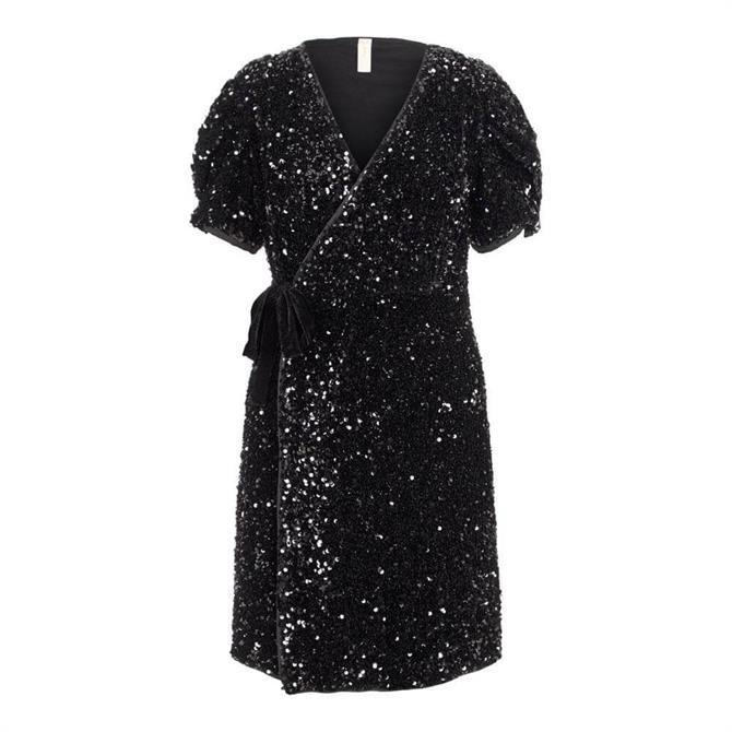 Y.A.S Sequella Wrap Mini Dress