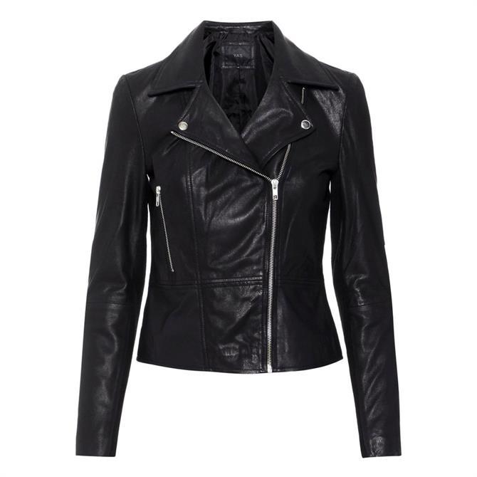 Y.A.S Sophie Leather Biker Jacket