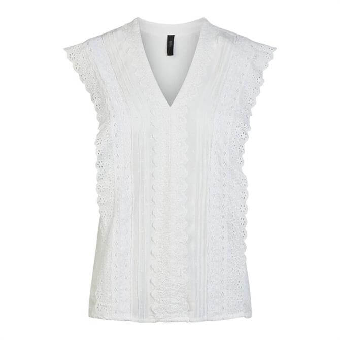 Y.A.S Stine Embroidered Sleeveless Top