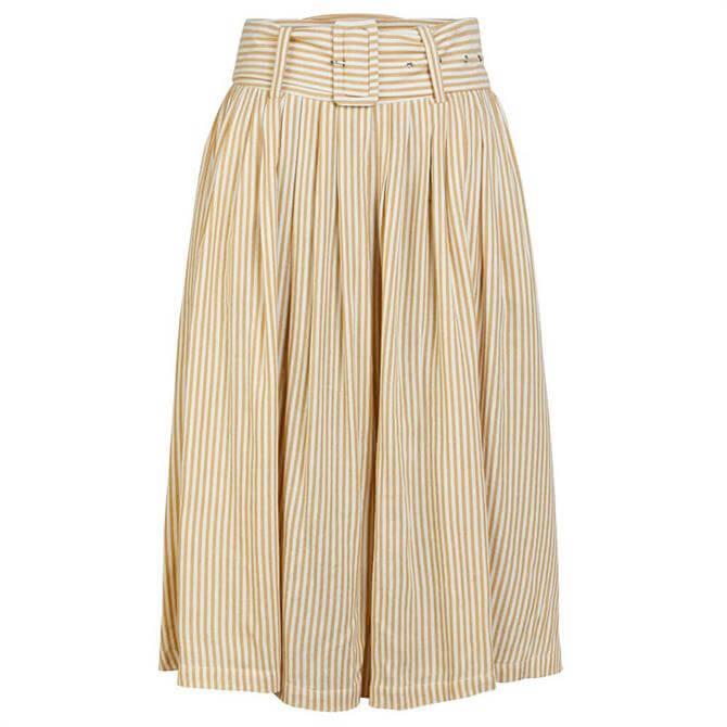 Y.A.S Ember Striped Midi Skirt