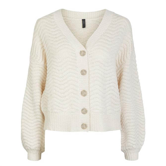 Y.A.S Betricia Textured Slouchy Knit Cardigan