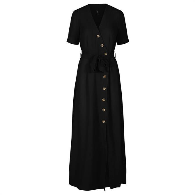 Y.A.S Marion Button Front Maxi Dress