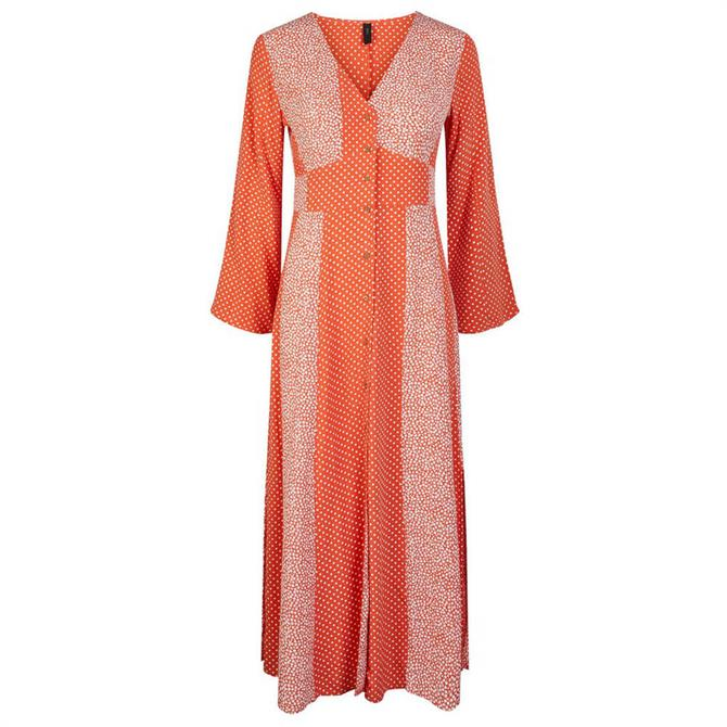Y.A.S Tiara Mixed Print Maxi Dress