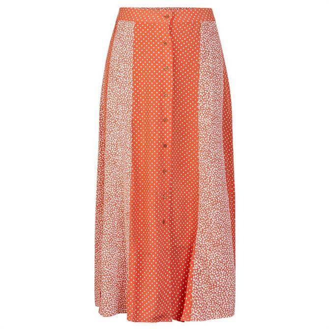 Y.A.S Tiara Mixed Print Skirt