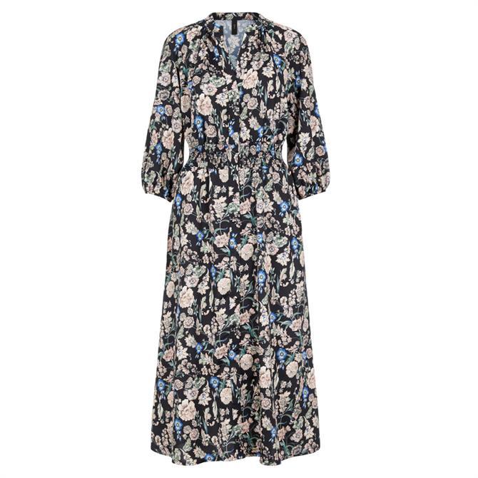 Y.A.S Valetta Floral Print Midi Dress