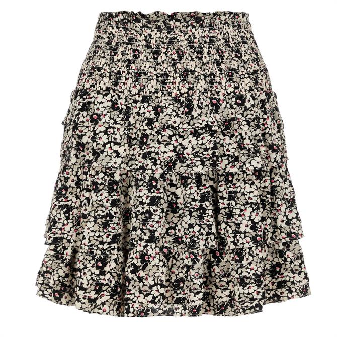 Y.A.S Lopa Short Floral Teired Skirt