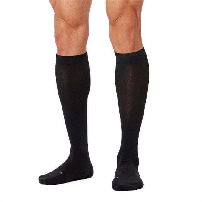 2XU Men's Compression Run Socks- Black