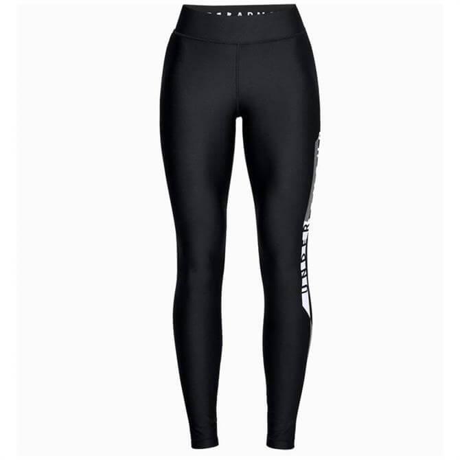 Under Armour Women's HeatGear® Armour Graphic Leggings- Black/Silver
