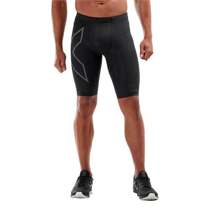 2XU Men's MCS Run Compression Shorts 19 - Black