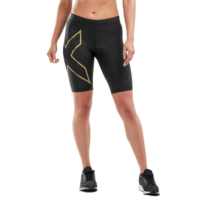 2XU Women's MCS Run Compression Shorts 19 - Black/Gold