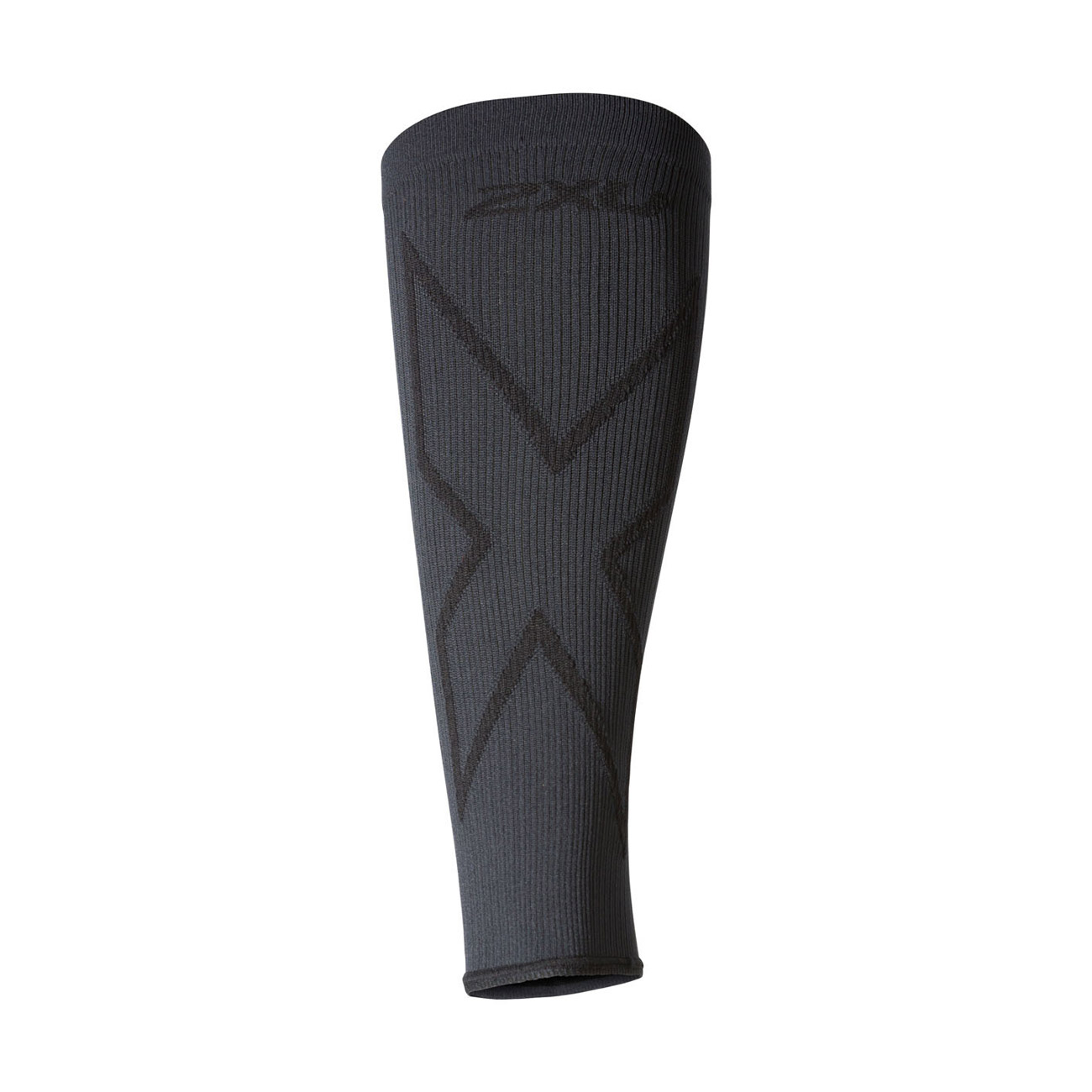 An image of 2XU X Compression Calf Sleeves - Titanium - L, TITANIUM/BLACK