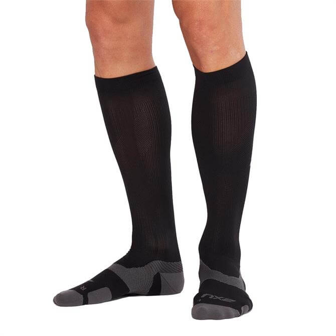 2XU VECTR Cushion Full Length Socks- Black