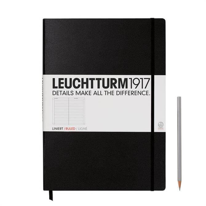 Leuchtturm A4+ Notebook 233 Lined Pages Black