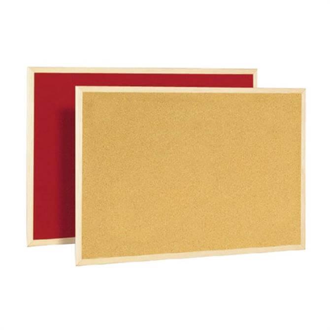 BiOffice Memo Cork Board Red 600x900mm