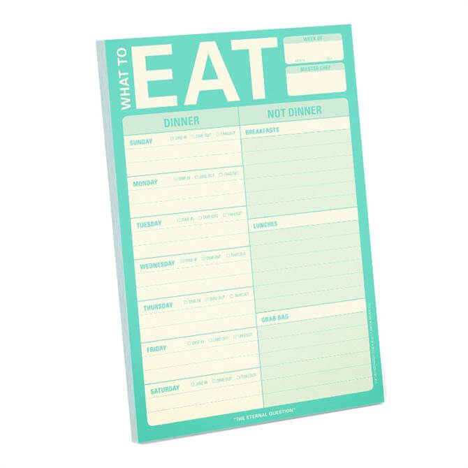 Knock Knock What To Eat Pad - Mint Green