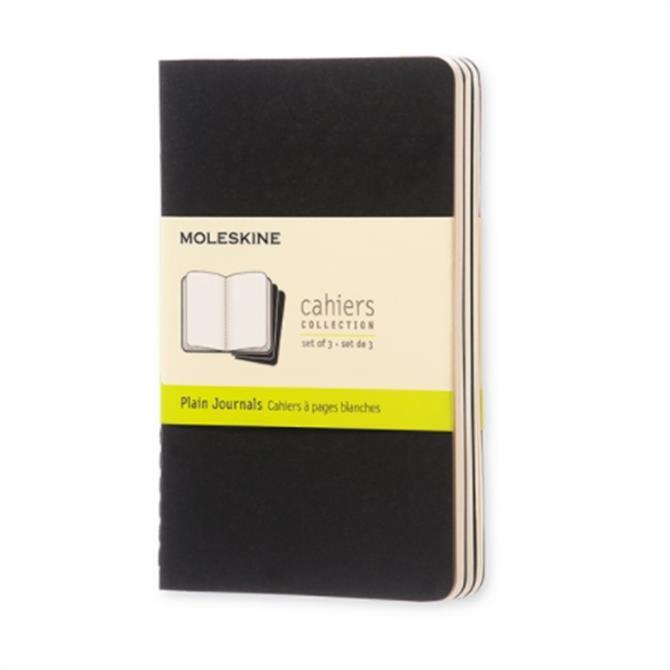 Moleskine Plain Cahier Pocket Journal Set of 3