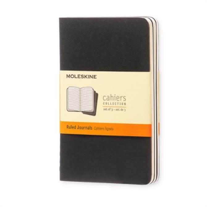 Moleskine Ruled Cahier Pocket Journal Set of 3