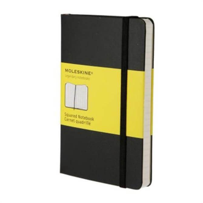 Moleskine Pocket Squared Hardcover Notebook