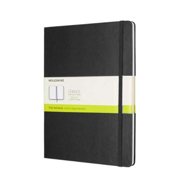 Moleskine Extra Large Plain Hardcover Notebook - Black