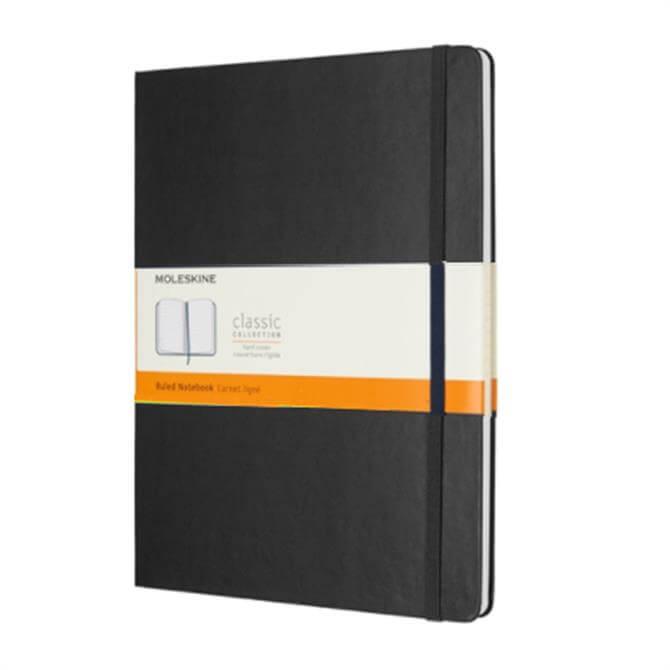 Moleskine Extra Large Ruled Hardcover Notebook Black