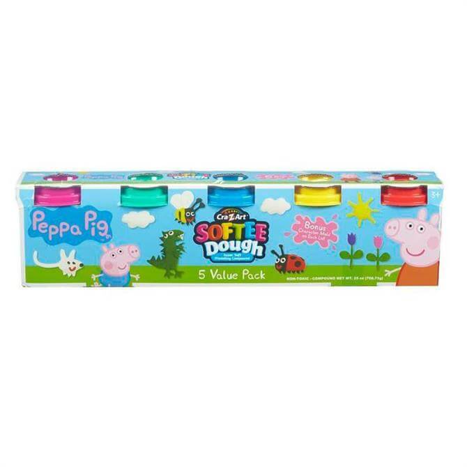Character Options Peppa Pig Softee Dough Value Pack