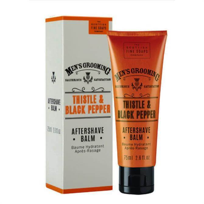 Scottish Fine Soaps Thistle and Black Pepper Aftershave Balm 75ml