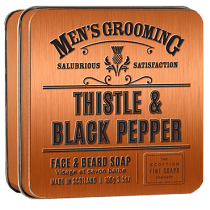 Scottish Fine Soaps Thistle and Black Pepper Face and Beard Soap
