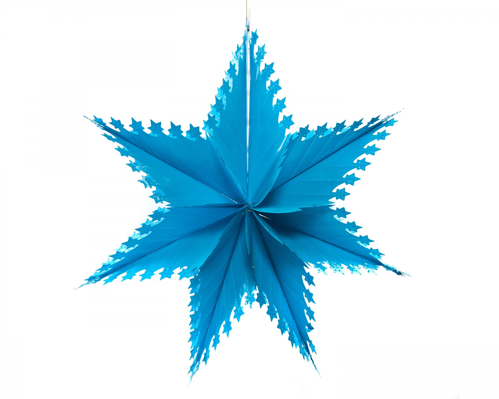 An image of Acorn & Will Blue Star Decoration