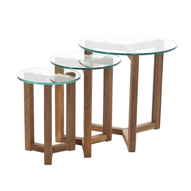 Tokyo Nest Of Tables Glass Top