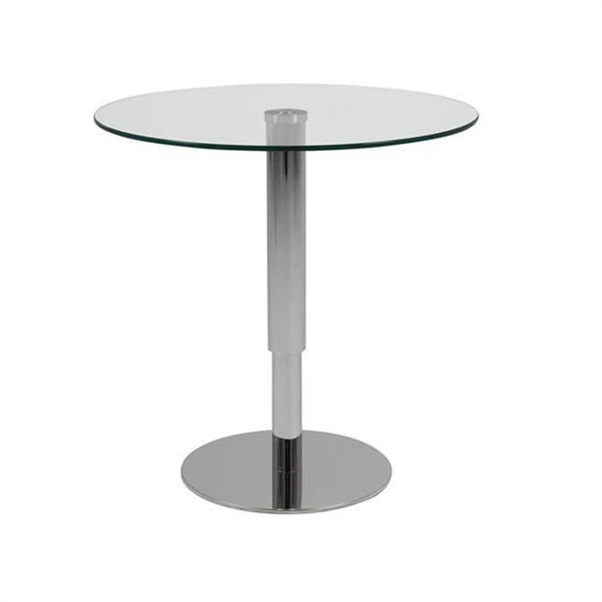Sortello Coffee Table 80cm Clear White High Gloss