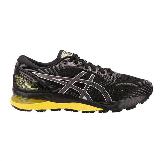 Asics Men's GEL-NIMBUS 21 Running Shoes- Black/ Lemon Spark