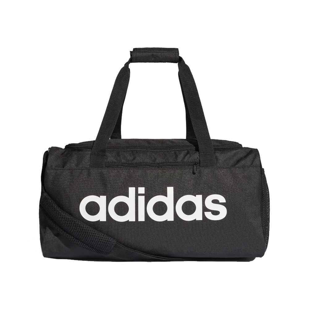 An image of Adidas Linear Core Gym Duffle Bag - Black/White - LARGE, BLK/WHT