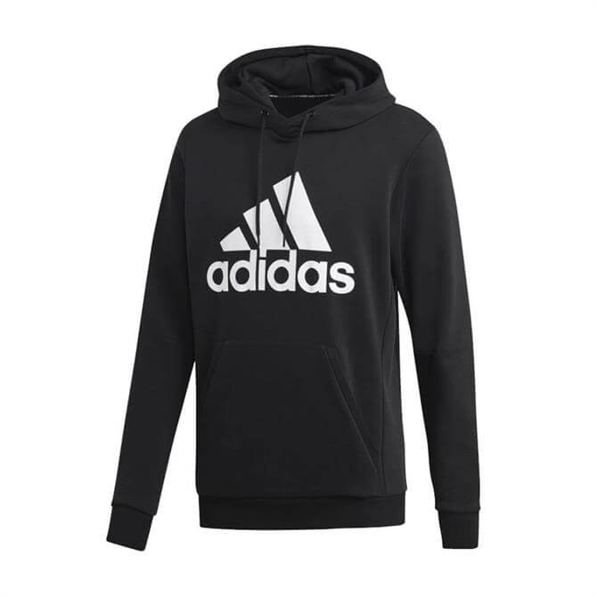 Adidas Men's Must Have Badges Of Sport Hoodie - Black