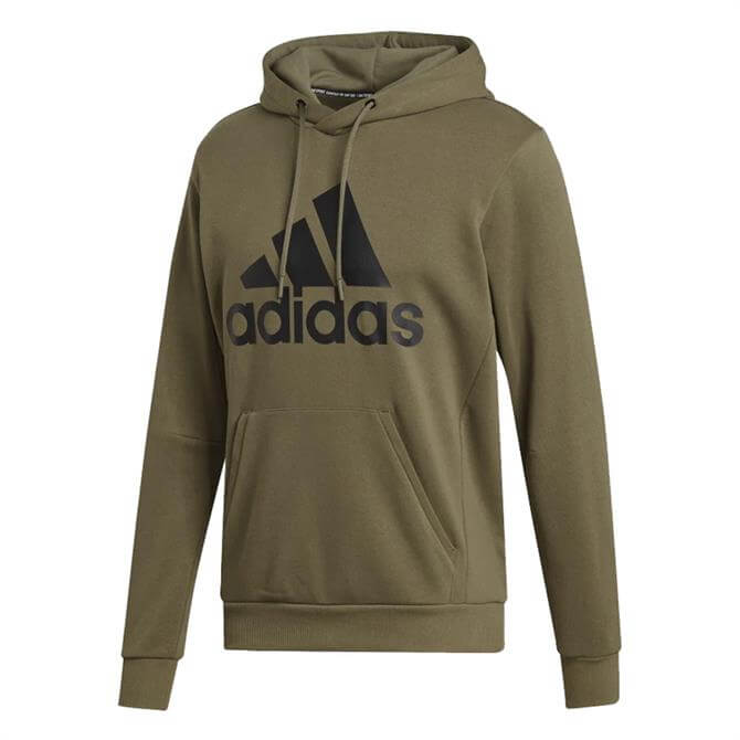 Adidas Men's Must Have Badges Of Sport Hoodie - Khaki