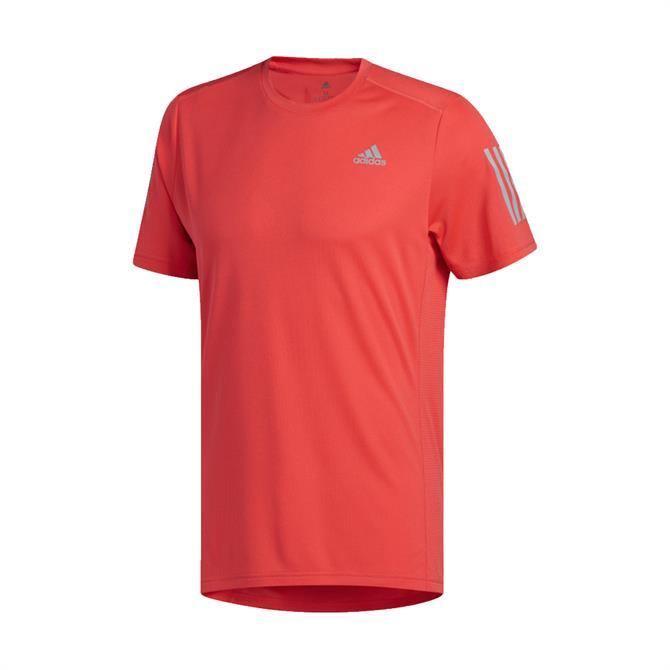 Adidas Men's Own The Run Short Sleeve T-Shirt - Shock Red