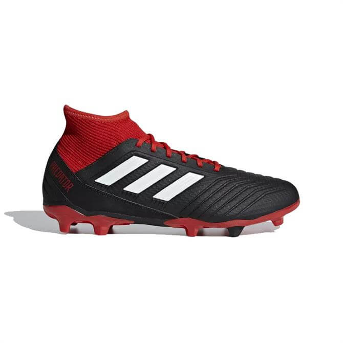 Adidas Men's Predator 18.3 Firm Ground Boots-Black/White/Red