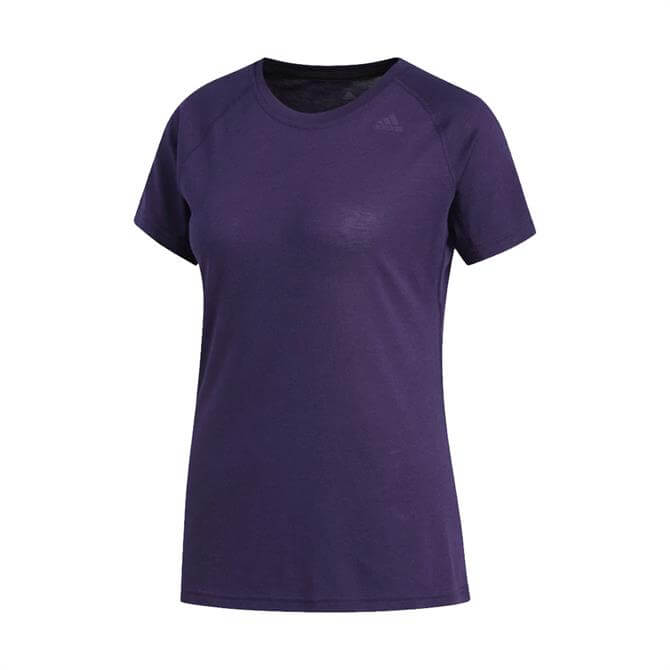 Adidas Women's Prime Short Sleeve T-Shirt - Legend Purple