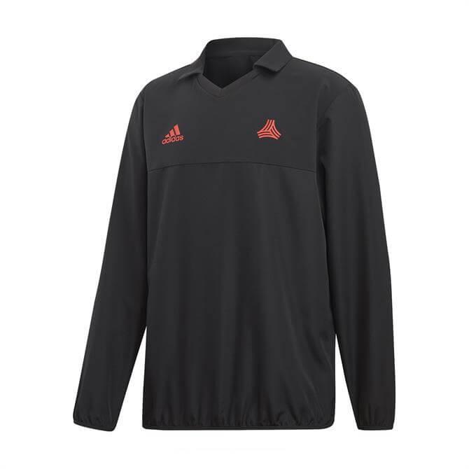 Adidas Men's TAN Football Training Lightweight Woven Top - Black