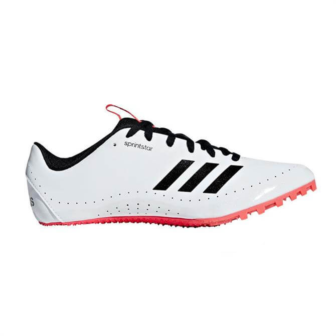 Adidas Men's Sprint Star Track Shoes - White/Black