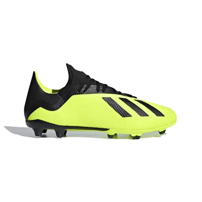 Adidas Men's X 18.3 Firm Ground Football Boot- Solar Yellow
