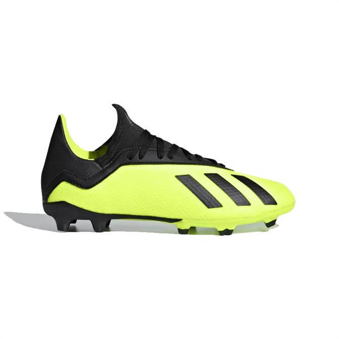 Adidas Junior X 18.3 Firm Ground Football Boots- Solar Yellow