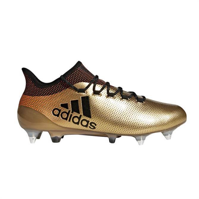 Adidas Men's X 17.3 Firm Ground Football Boots- Gold