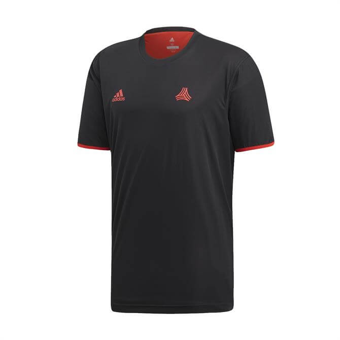 Adidas Men's TAN Reversible Football Jersey - Black/Red