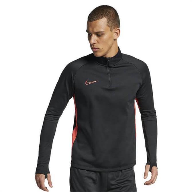 Nike Men's Dri-FIT Academy Drill Top - Black/Ember Glow