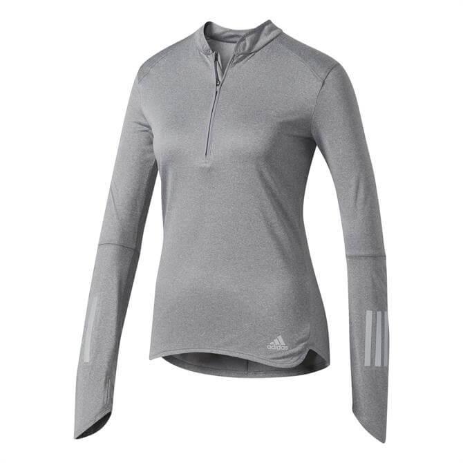 Adidas Half-Zip Response Long Sleeve T-Shirt