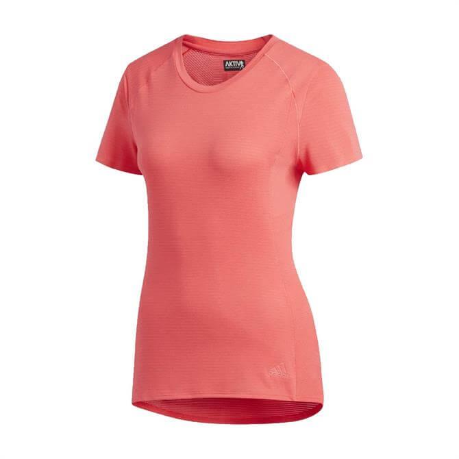 Adidas Women's Supernova AKTIV Against Cancer T-Shirt - Shock Red