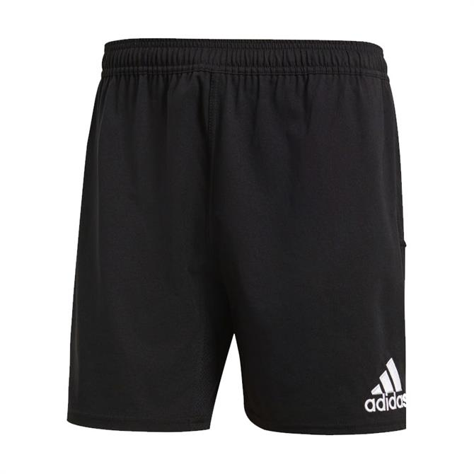 Adidas Men's Classic 3 Stripe Rugby Shorts- Black/White