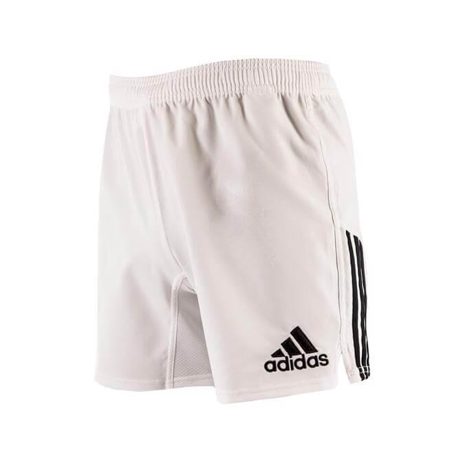 Adidas Men's Classic 3 Stripe Ruby Shorts- White