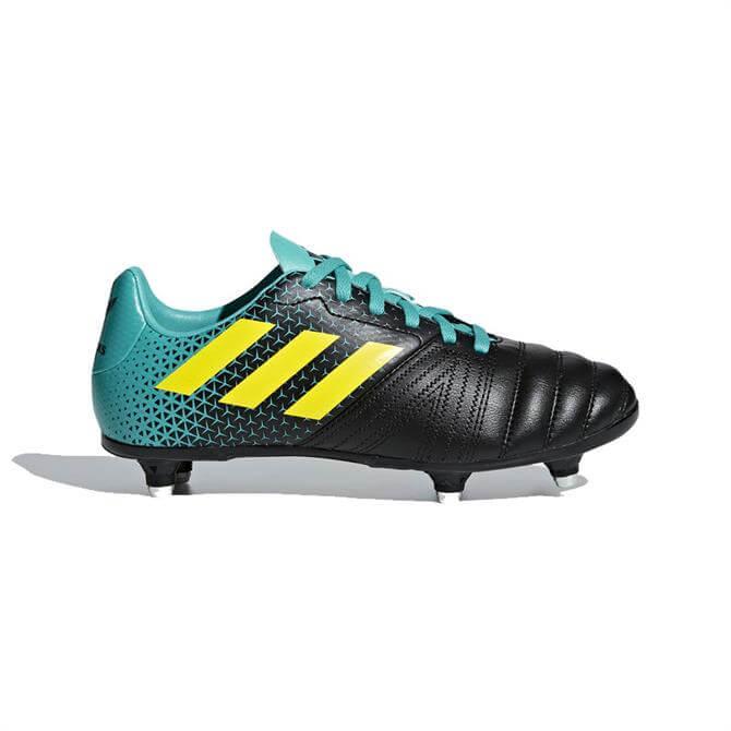 Adidas Junior All Blacks Soft Ground Rugby Boots- Hi-Res Aqua
