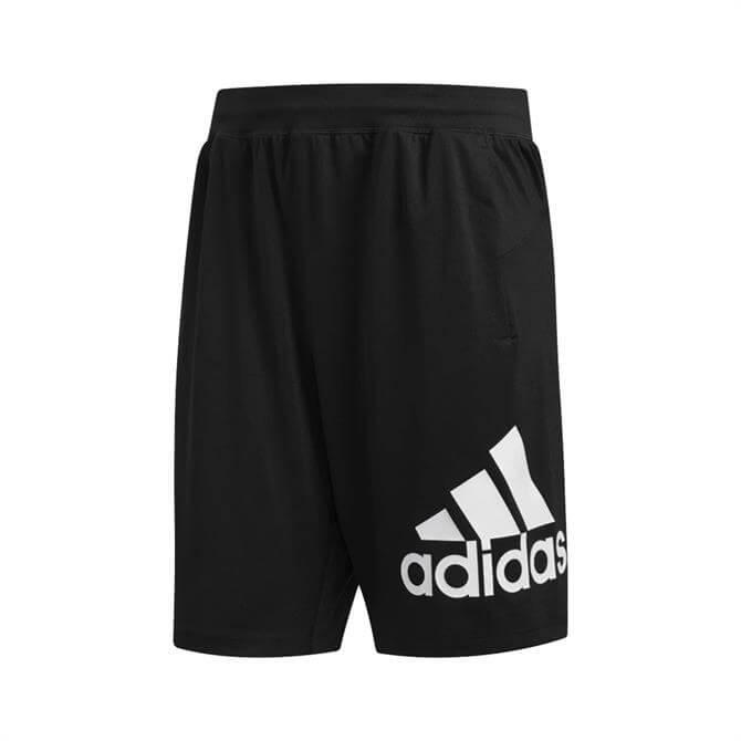 Adidas Men's 4KRFT Badge of Sport Fitness Shorts - Black